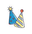 happy birthday party hats accessory decoration vector image vector image