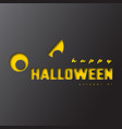 happy halloween paper cut style vector image vector image