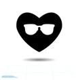 heart black icon love symbol the silhouette vector image vector image