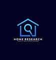 home search line art design concept template vector image