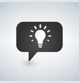 idea lamp with speech bubbles simple icon vector image vector image