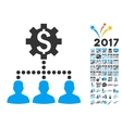 Industrial Bank Clients Icon With 2017 Year Bonus vector image vector image