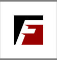 initial f and square logo design concept vector image vector image