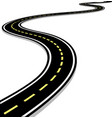 leaving the highway curved road with markings 3d vector image