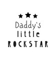 lettering child poster my daddy little pockstar vector image vector image