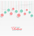 lovely christmas snowflakes hanging background vector image vector image