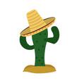 mexican culture icon image vector image vector image