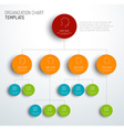 modern and simple organization chart template vector image vector image