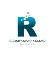 modern letter r vector image
