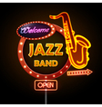 Neon sign Jazz band vector image