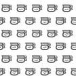 pattern cute teapots kawaii style vector image vector image