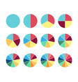 pie circle chart 12 section circle graph vector image vector image