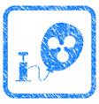 pump ripple balloon framed stamp vector image vector image