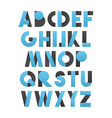 Retro font in blue and grey Blue alphabet vector image vector image