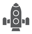 rocket glyph icon shuttle astronomy spaceship vector image vector image