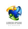 rotate shiny human logo concept design symbol vector image