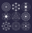 sacred geometry design elements non expanded vector image vector image