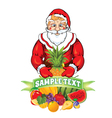 Santa Claus with a fruit vector image