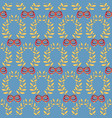 seamless pattern with laurel wreaths and bows vector image