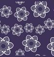 seamless patterns on light violet background vector image