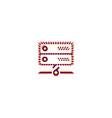 server icon design essential icon design vector image vector image