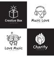 set minimalistic doodle logos sketch vector image