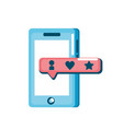 smartphone technology with chat bubble vector image