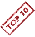 Stamp Top 10 vector image