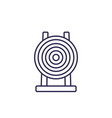 target icon line sign vector image vector image