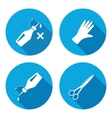 Tool icons set Glue rubber gloves sclissors vector image vector image