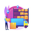 transit warehouse abstract concept vector image vector image
