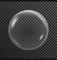 transparent soap bubble on a dark background vector image vector image