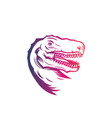 tyrannosaurus rex head t rex outline vector image