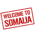 welcome to somalia stamp vector image vector image