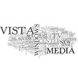 what vista means for tv to pc and pc to tv text vector image vector image