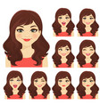 womans emotion vector image vector image