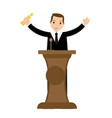 young business man winning award vector image
