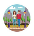young couple cartoon vector image vector image