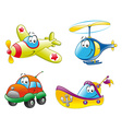 Family of vehicles vector image