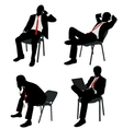 bussinesman sitting vector image