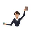 business woman office job stress work