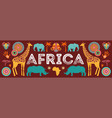 africa banner of safari vector image vector image