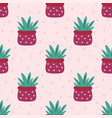 aloe vera cute seamless pattern vector image vector image