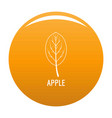apple leaf icon orange vector image