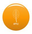 apple leaf icon orange vector image vector image