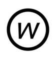 Basic font letter w icon design