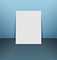 Blank photo frame canvas on blue vector image