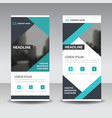 blue black triangle business roll up banner vector image vector image