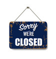 blue sign closed isolated background vector image