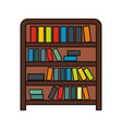 book shelf cartoon icon isolated on a white vector image